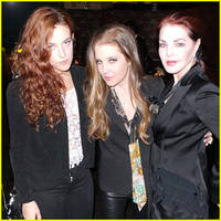 lisa marie presley's 46th birthday party with daughter riley keough and mom priscilla presley (exclusive)